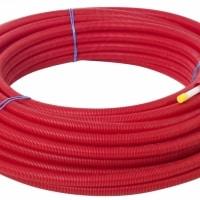 Käyttövesiputki PEX 18×2,5/28 suojaputkessa 50m punainen